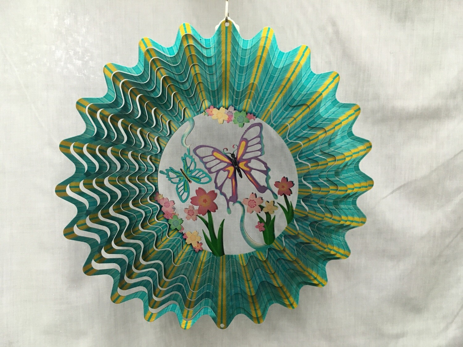Butterfly Blue Large - Cut Out Design Wind Spinner