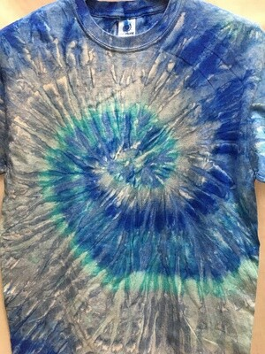 Classic Twist Blue - Tie Dye T-shirt - Size EXTRA LARGE