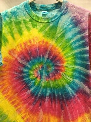 Classic Twist Mottled Pastel Rainbow - Tie Dye T-Shirt - Size EXTRA LARGE