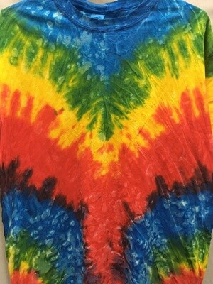 V Design Bright  - Tie Dye T-shirt - Size EXTRA LARGE