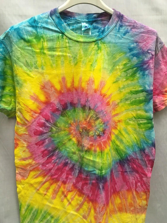 Classic Twist Mottled Pastel Rainbow - Tie Dye T-shirt - Size MEDIUM