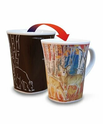 Deer Colour Changing Mug  - Canadian Images Wildlife Edition