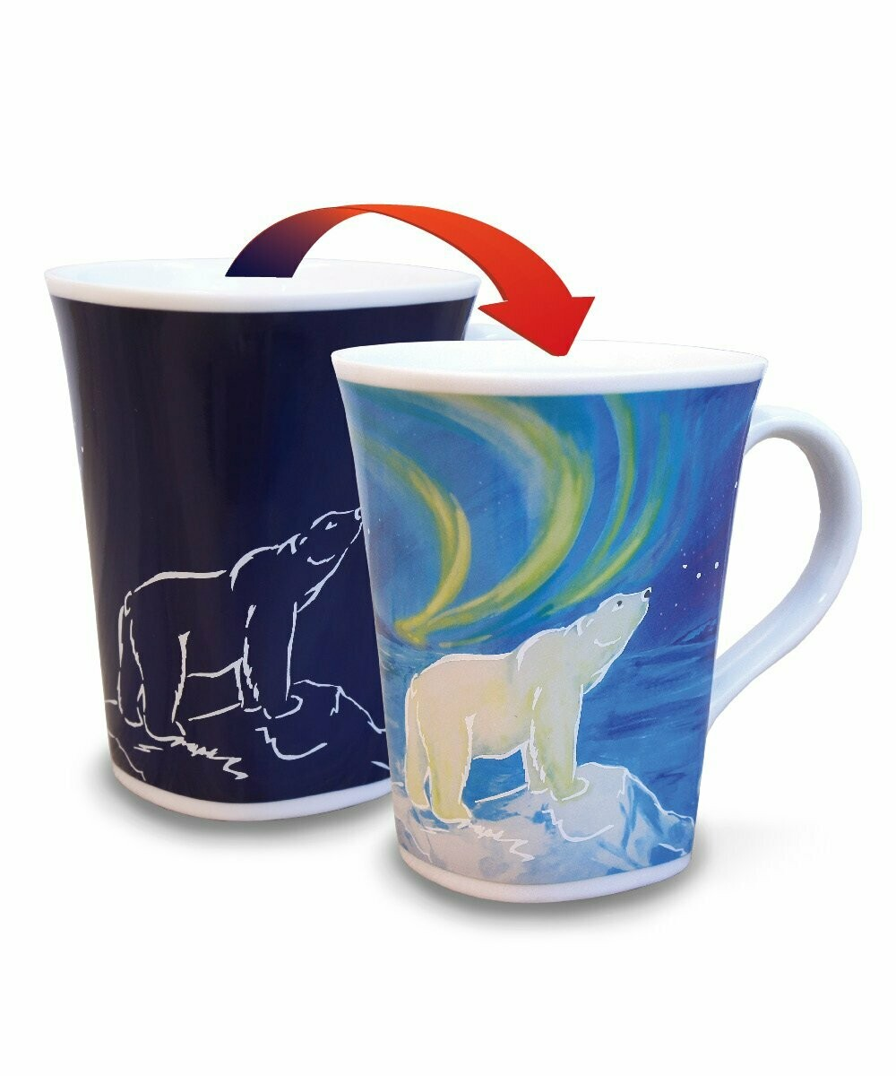 Polar Bear Colour Changing Mug - Canadian Images Wildlife Edition