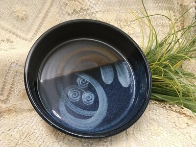 Fruit/Salad - Open Baker Medium, Blue Stone - Pavlo Pottery - Canadian Handmade