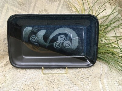 Rectangular Tray, Blue Stone - Pavlo Pottery - Canadian Handmade