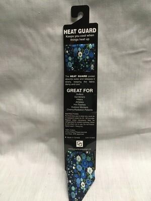 Heat Guard Cooling Tie - Blue Garden -  Handmade in Canada
