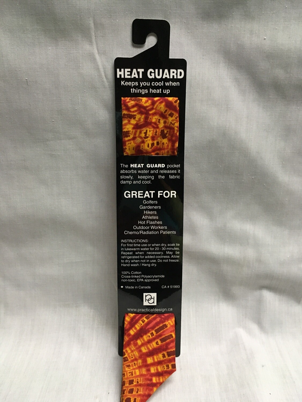Heat Guard Cooling Tie - 70's Tie Dye - Handmade in Canada