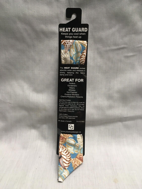 Heat Guard Cooling Tie - Sea Shells -  Handmade in Canada