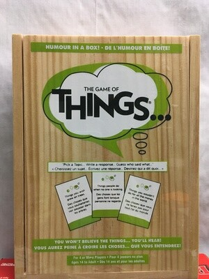 The Game of Things - in Wooden Box - Party Game ages 14 and up