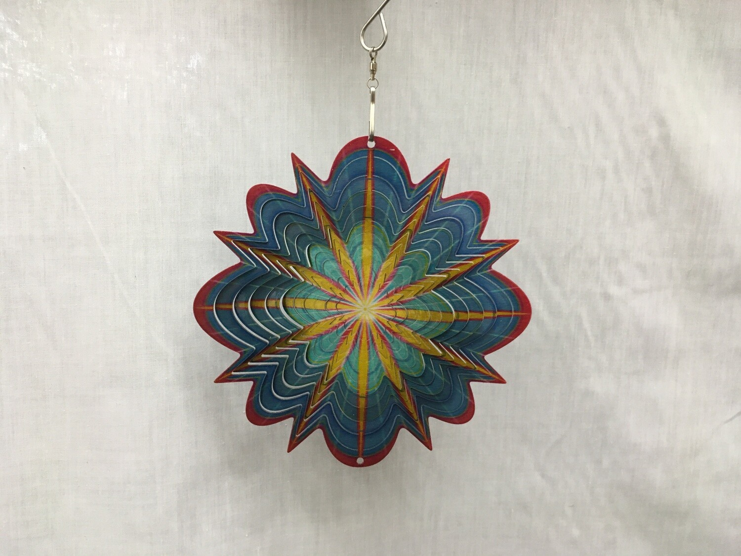 Arctic Splash Mandala Small  - Wind Spinner