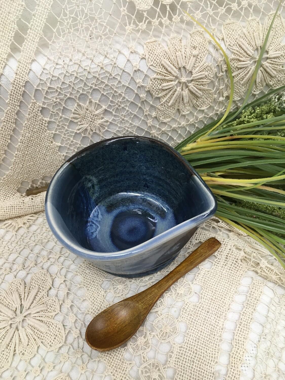 Condiment Bowl, Ocean Blue - Pavlo Pottery - Canadian Handmade
