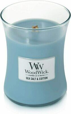 Sea Salt & Cotton - Medium - WoodWick Candles