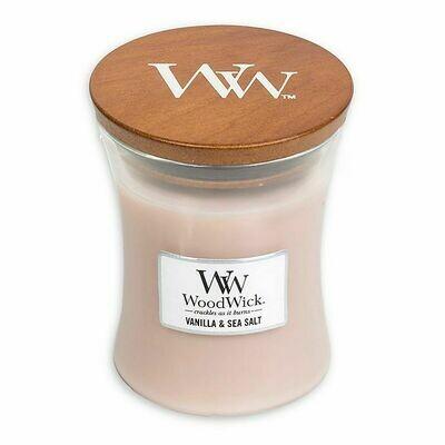 Vanilla & Sea Salt - Medium - WoodWick Candle