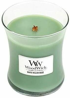 White Willow Moss - Medium - WoodWick Candle
