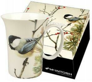 Bateman - Chickadees - Birds In Pine - Single Fine Bone China Crest Mug in Collector Box