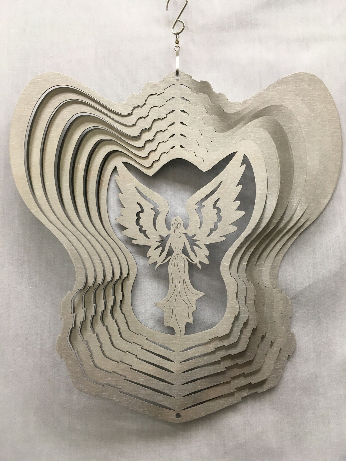 Angel Silver Large - Wind Spinner