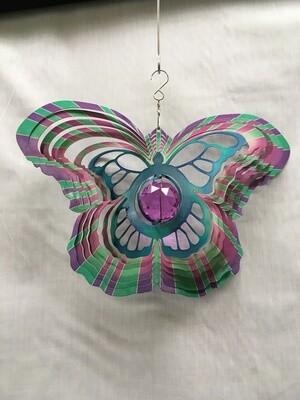 Butterfly Shape Blue Large - Wind Spinner