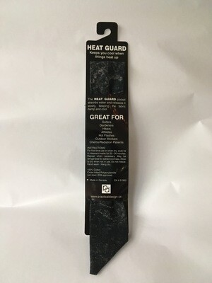 Heat Guard Cooling Tie - Black Tones -  Handmade in Canada
