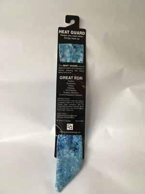 Heat Guard Cooling Tie -Blue Speckles -  Handmade in Canada