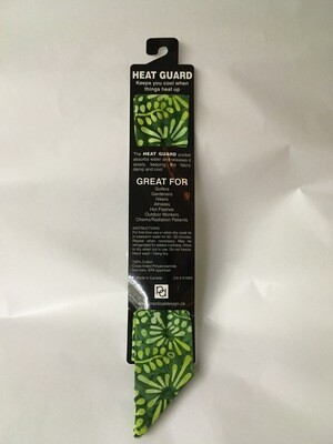 Heat Guard Cooling Tie - Lime/Forest Batik -  Handmade in Canada