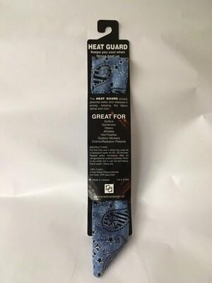 Heat Guard Cooling Tie - Blue Bandana -  Handmade in Canada