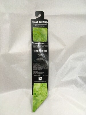 Heat Guard Cooling Tie - Celery Batik -  Handmade in Canada