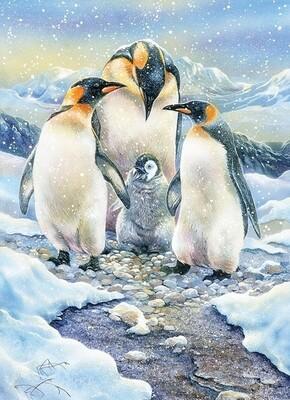 Penguin Family - Family Pieces - 350 Piece Cobble Hill Puzzle
