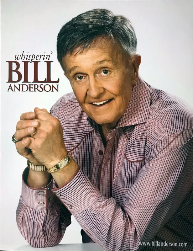 8 x 10 Bill Anderson Photo Red Shirt