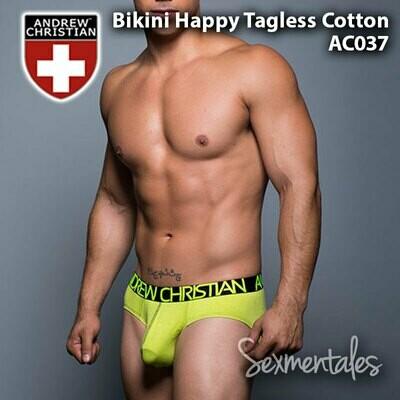 Bikini Happy Tagless Cotton  AC037 - Sexmentales  - Andrew Christian