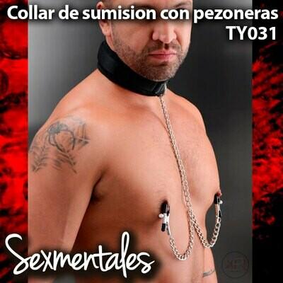 Correa para el cuello con Pezoneras - Sexmentales