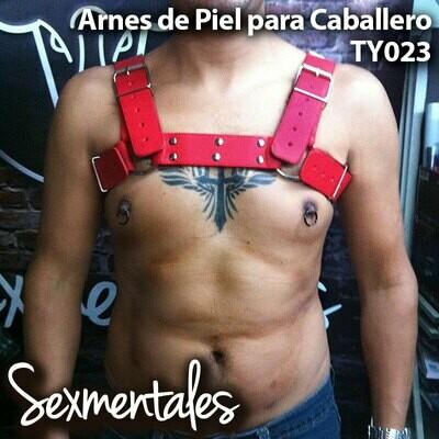 Arnés Fuego Intenso Para Pecho En Piel Color Rojo Ty023 - Sexmentales