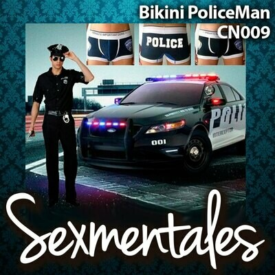 Bikini de algodón con estampado POLICE CN009 - Sexmentales