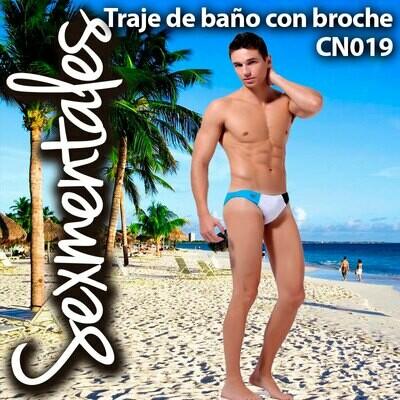 Traje de Baño con Broche Plastico Lateral CN019  Sexmentales