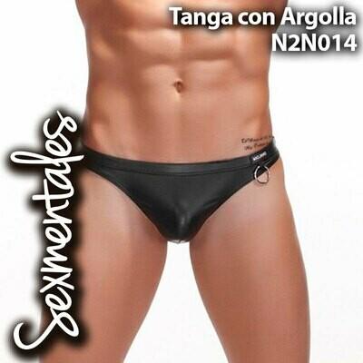 Tanga Imitación Piel Con Argolla LTH014 Sexmentales