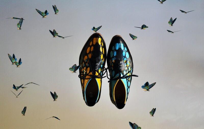 Natura shoes blue&yellow