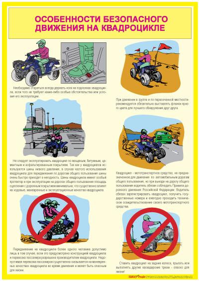 "Комплект плакатов ""Безопасная эксплуатация квадроцикла"""