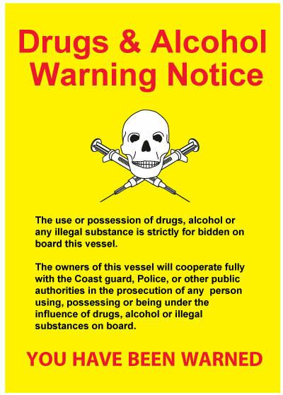 Предупреждающий плакат – наркотики и алкоголь