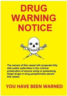 Предупреждающий плакат – наркотики