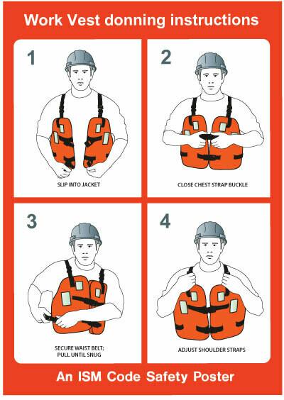 Инструкция по надеванию рабочего жилета