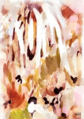 Abstract Brown Print