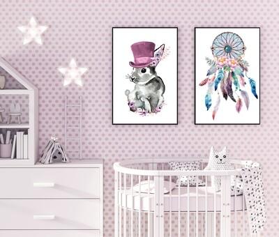 Top Hat Bunny Pink