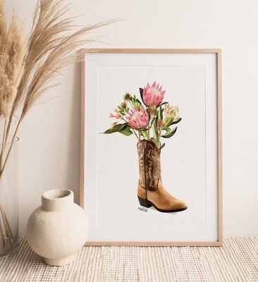 Flower Boot Print