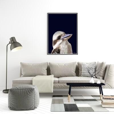 Kookaburra Navy Print
