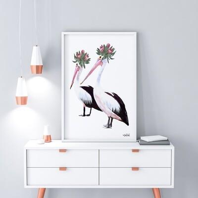 Pelican Glamour Print