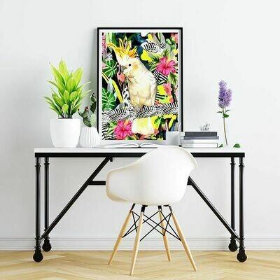 Tropical cockatoo Print