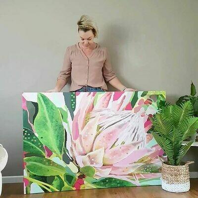 Protea landscape Print