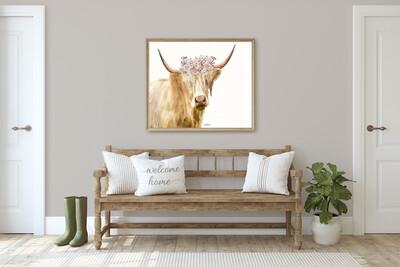 Highlander cow With Flower Crown