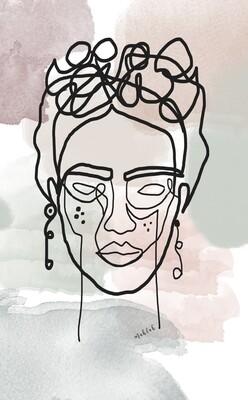 Line Frida Print
