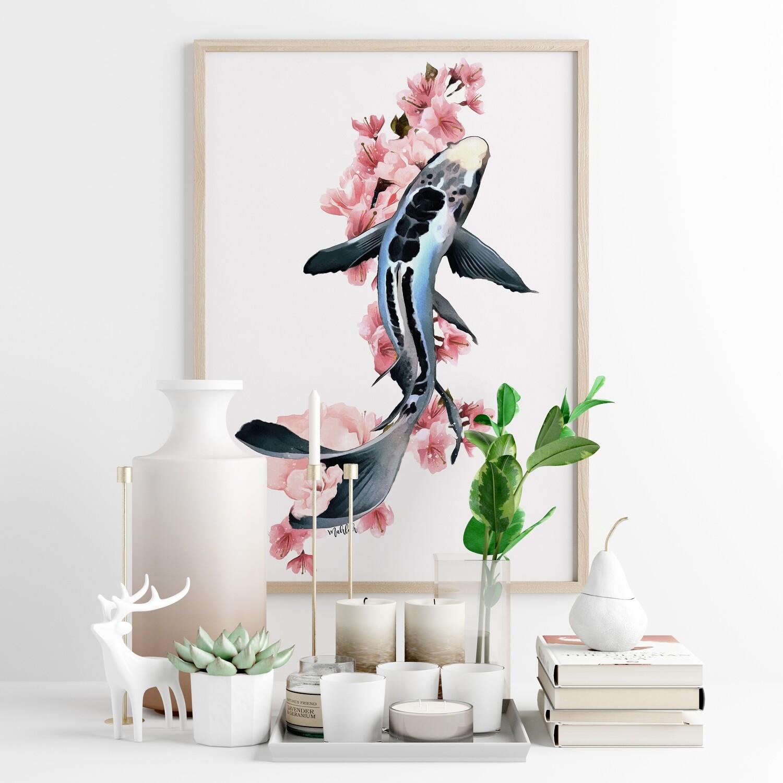 Flower Koi Print