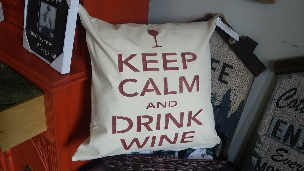 Drink Wine Pillow